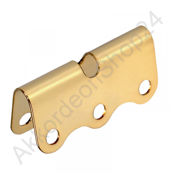 Sheet metal for bass straps 41 mm, color gold