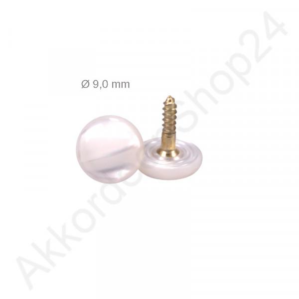 Ø9,0mm bass button white pearl