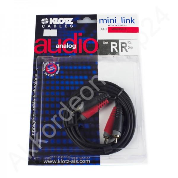 Klotz mini_link Cinch cable 2m