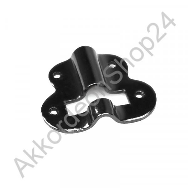 Metal plate for bass strap adjuster, black colour