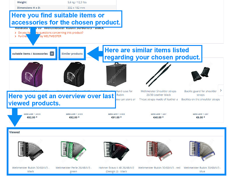 Suitable and similar products