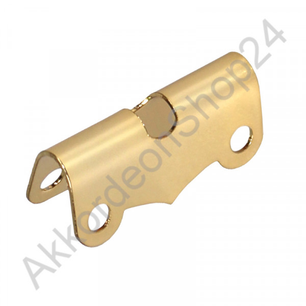 Sheet metal for bass straps 34 mm, color gold