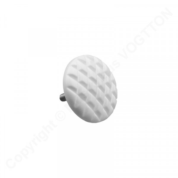 Treble button for button accordion - fluted - white