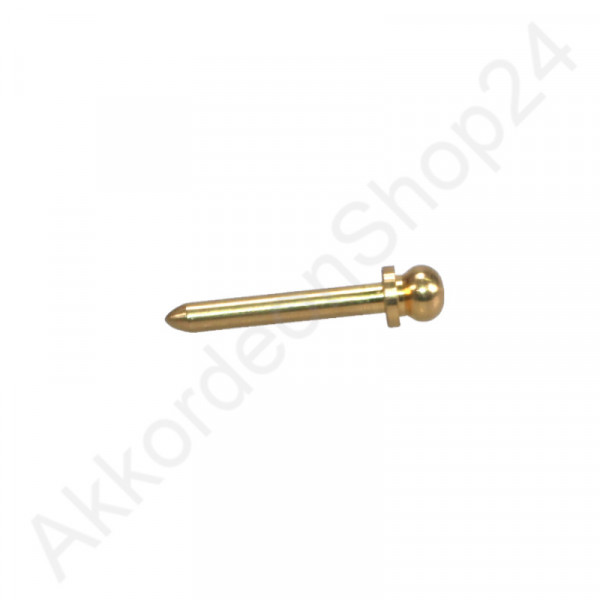 2,0x19mm Bellows pin rounded head - color gold