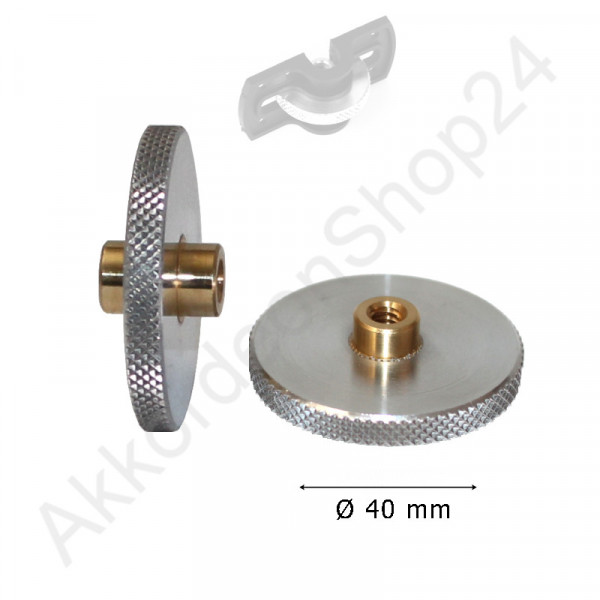 Feinverstellungsrad 40 x 4,5mm, Aluminium