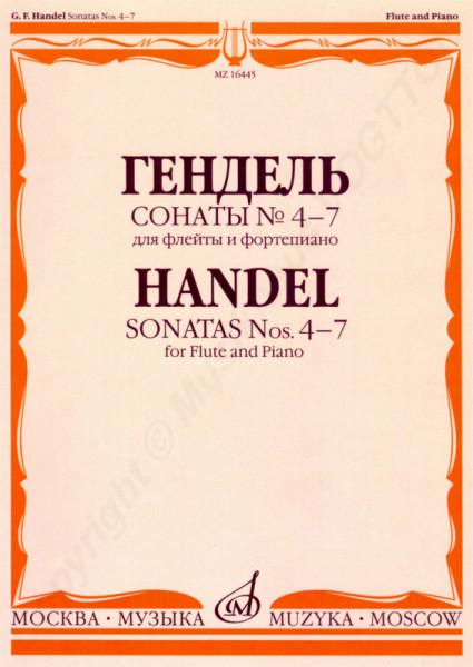 Georg Friedrich Händel. Sonaten Nr. 4-7 für Flöte und Klavier