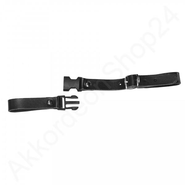 Back strap 29-36 cm leather, black