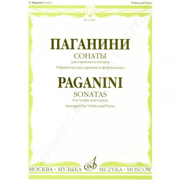 Paganini N. Sonaten für Violine und Gitarre, überarbeitet für Violine und Klavier