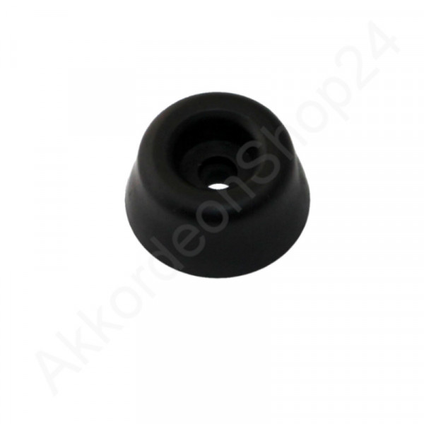 Accordion feet (rubber) with screw - black