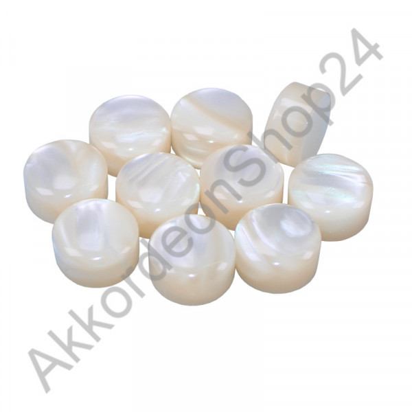 10pcs. Ø13,0x7,5mm mother-of-pearl buttons for gluing