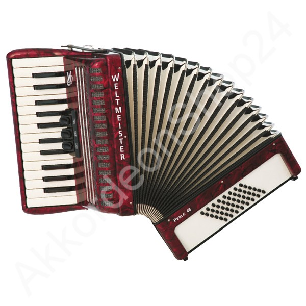 Accordion-Weltmeister-Pearl-red