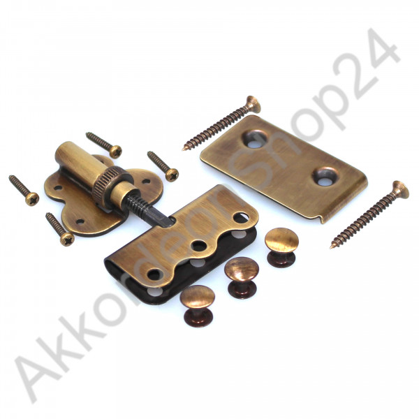 External bass strap adjuster for accordion, antique brass colour