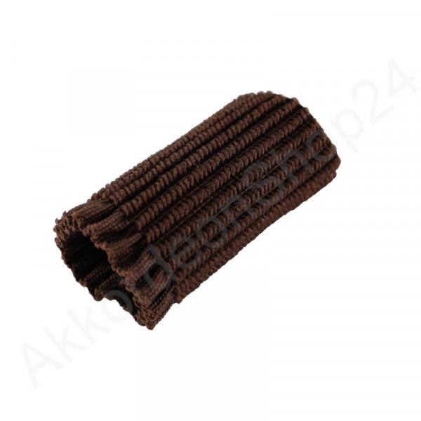 Buckle guard for shoulder straps, brown