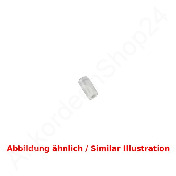 Hohner-Bass-button-white-pearloid