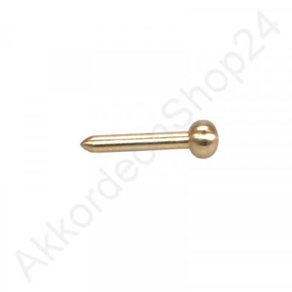 2,5x19mm Bellows pin rounded head - color gold