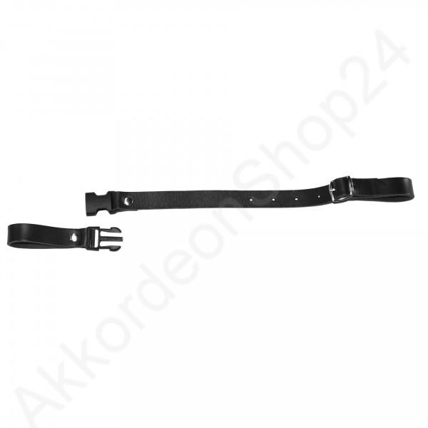 Back strap 37-50 cm leather, black