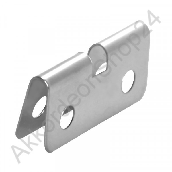 Sheet metal for bass straps 34x15mm, chrome