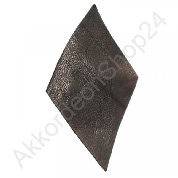 10Stk. Akkordeon Balg Lederecken 80x47 mm, schwarz