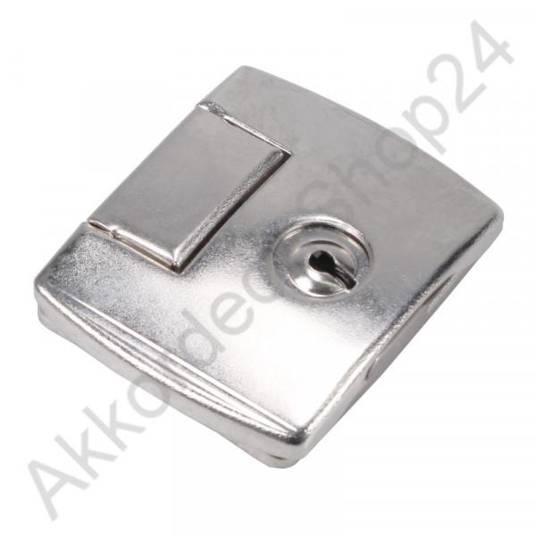 55x45x10mm Case lock, lockable nickel-plated