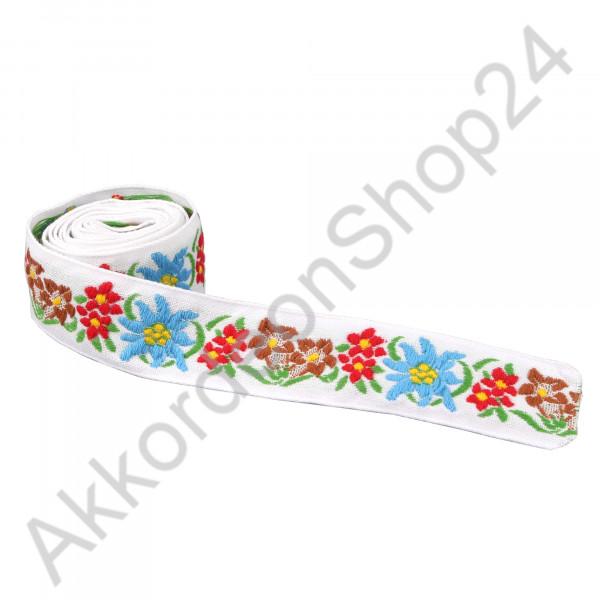 22mm white strap, edelweiss design