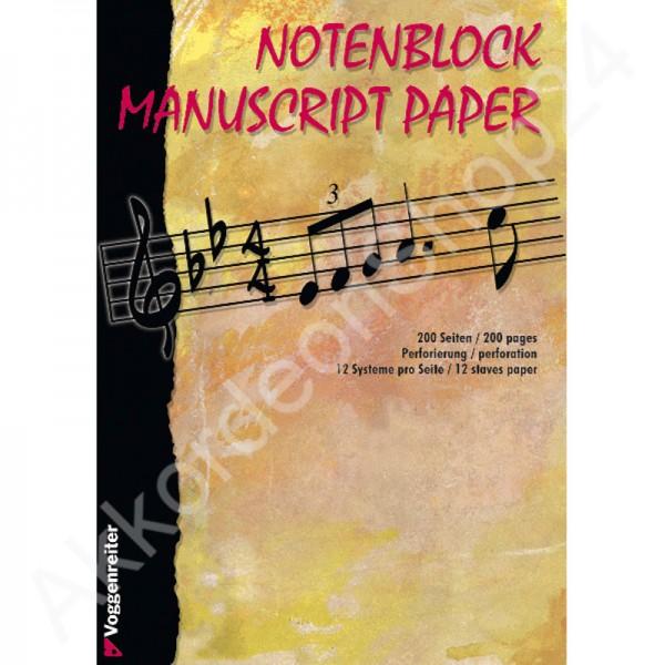 Voggenreiter Manuscript Paper