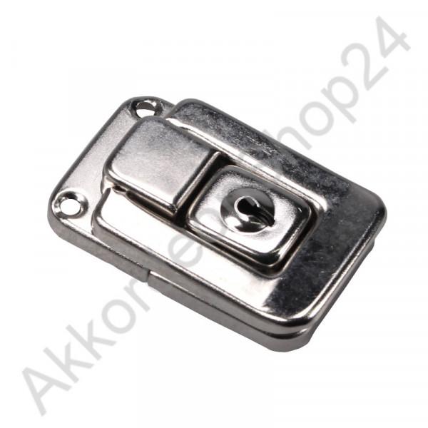 54x34x12mm Case lock, lockable nickel-plated