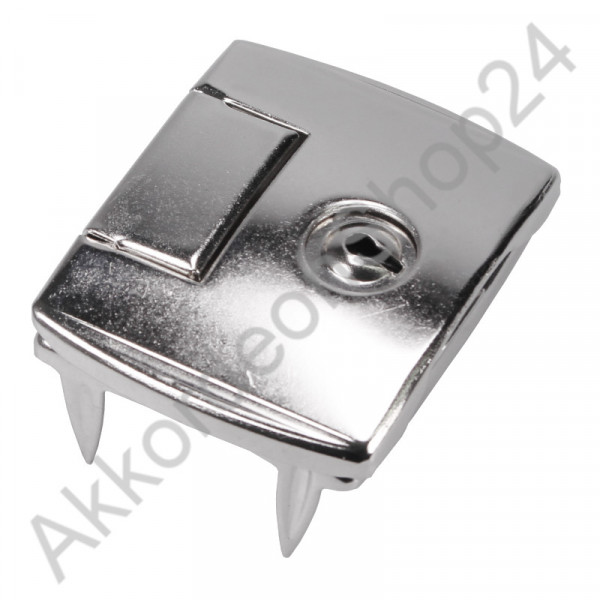 55x45x10mm Case lock with mounting feet, lockable nickel-plated