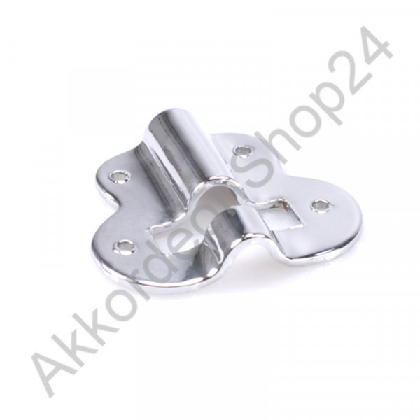Metal plate for bass strap adjuster, chrome