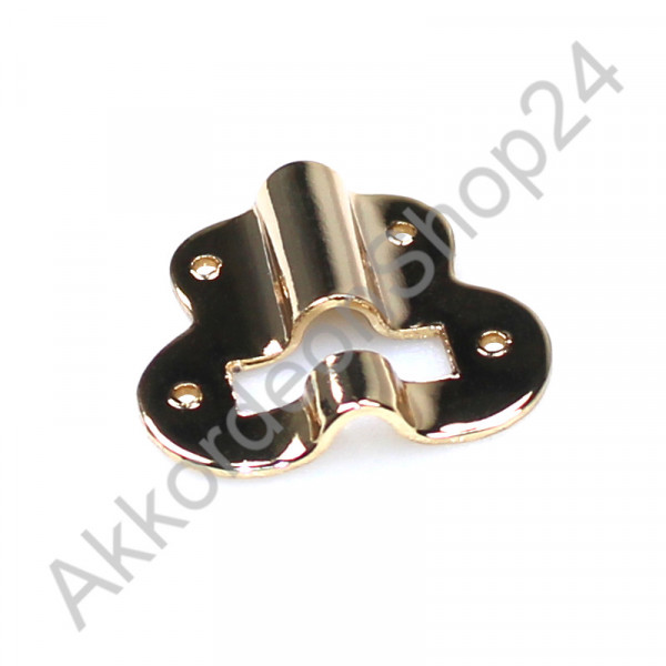 Metal plate for bass strap adjuster, gold colour