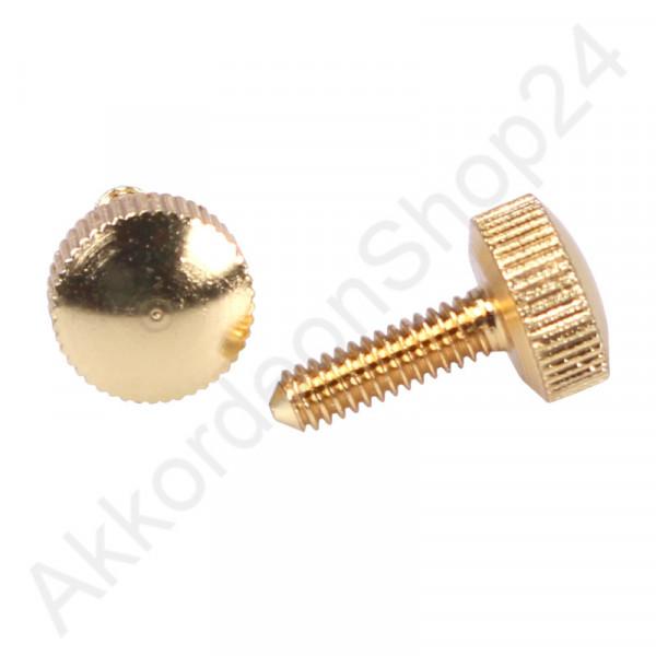 Thumbscrew 9x15mm, color gold
