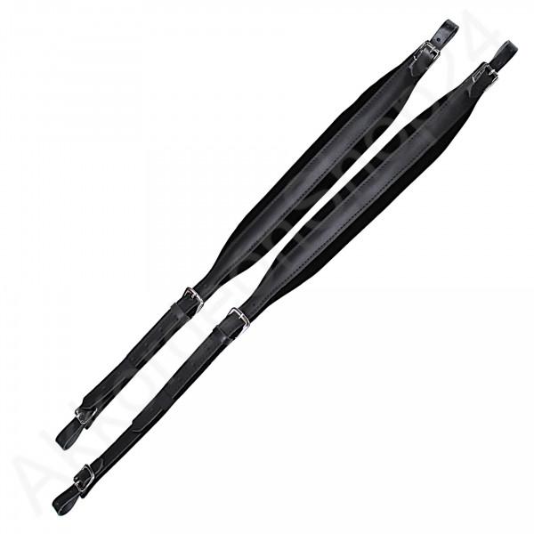 Shoulder straps 72/120 6,5x84-105 cm, leather with velvet