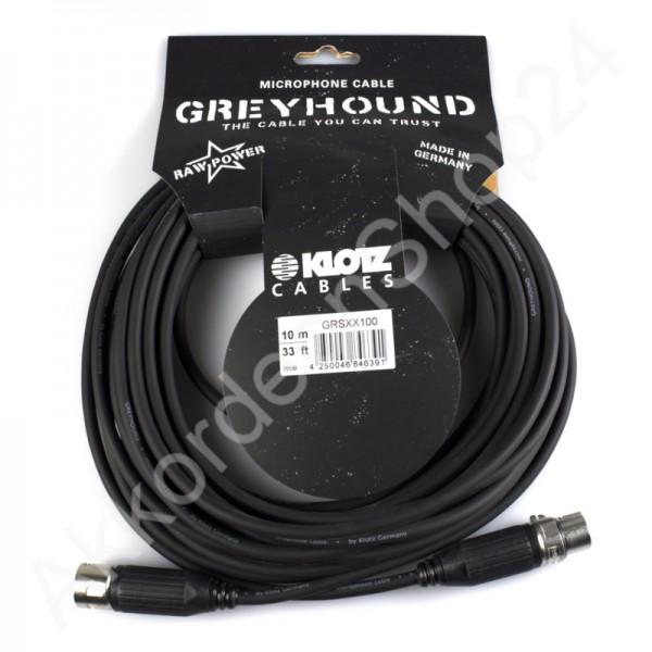 Klotz Greyhound XX100 Microphone- / XLR Cable 10m